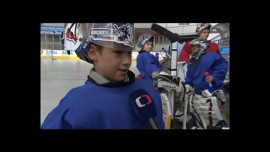 Video Rozhovor s účastníky hokejového kempu Ondřeje Pavelce