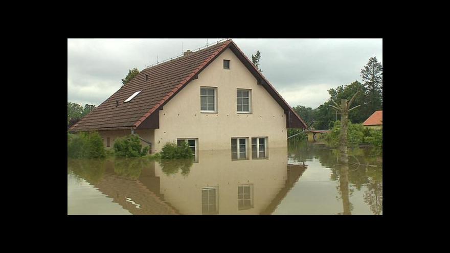 Video Milan Brunclík o povodňových škodách ve Středočeském kraji