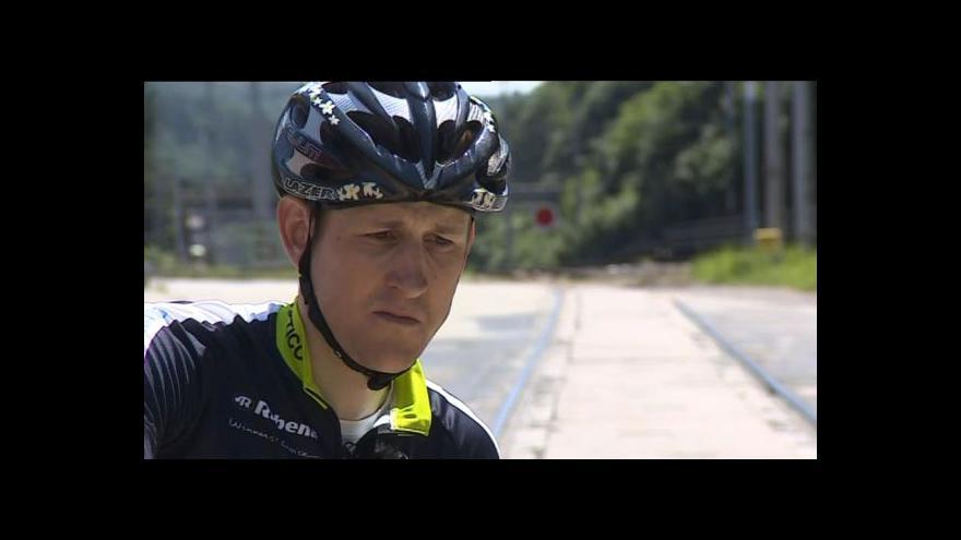 Video O nebezpečných úsecích hovoří cyklista Jan Jobánek