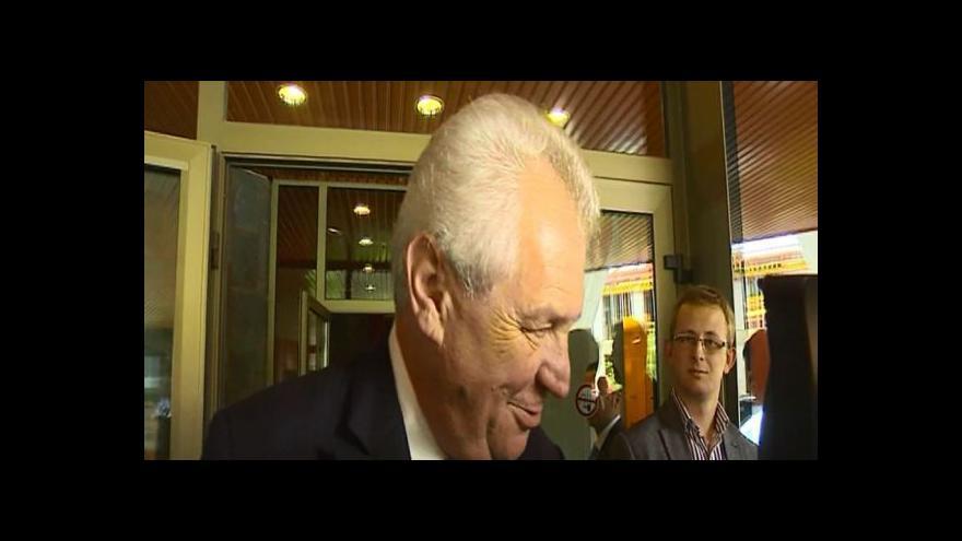 Video Miloš Zeman v Německu