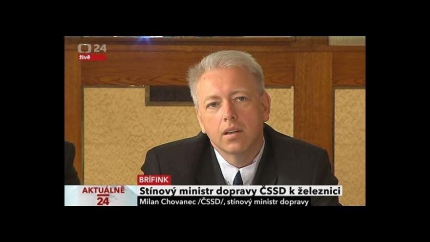 Video Brífink stínového ministra dopravy za ČSSD