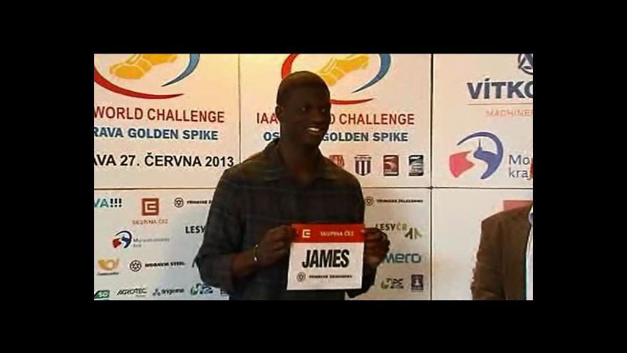 Video Na ostravskou Zlatou tretru přiletěl Kirani James