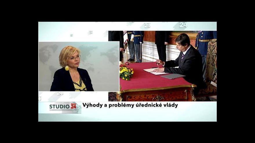 Video Rozhovor s Danielou Kovářovou - ministryní ve Fischerově vládě