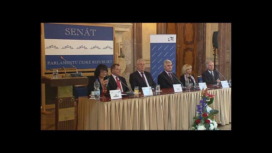 Video Projev prezidenta Miloše Zemana na semináři k 20. výročí NKÚ