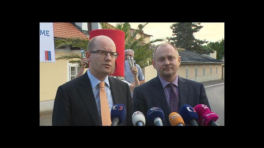 Video Brífink ČSSD po jednání v Lánech