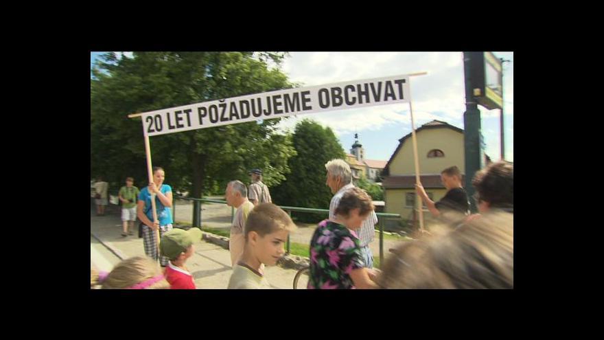 Video Lucie Rosí o blokádě v Olbramovicích