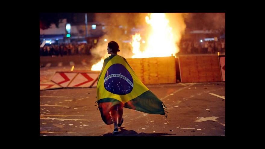 Video Demonstrace Brazilců polevily