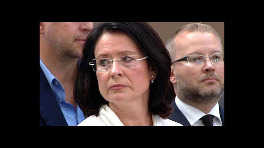 Video Události ČT o dění kolem kandidátky na funkci premiéra Miroslavy Němcové