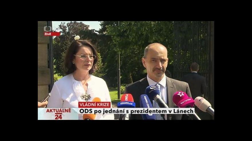Video ODS po jednání s prezidentem v Lánech