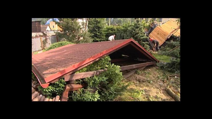 Video Alexandra Přečková o tornádu v Krnově