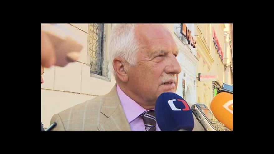 Video Vyjádření Václava Klause pro novináře