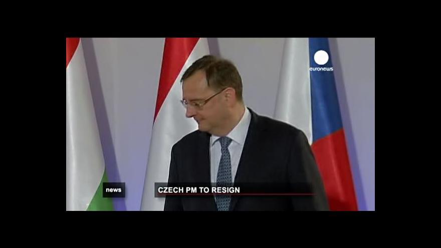 Video Pád české vlády středem zájmu zahraničních médií