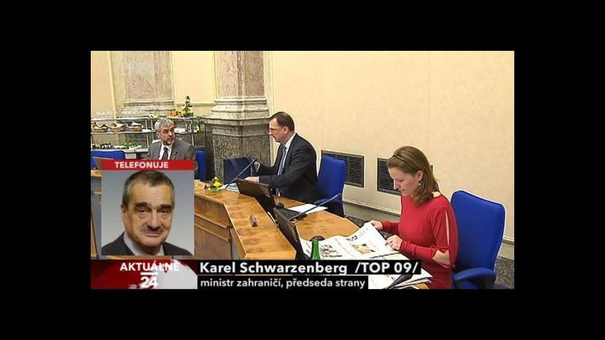 Video Karel Schwarzenberg k situaci