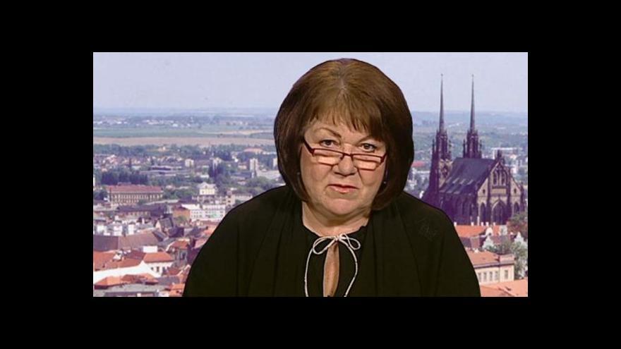 Video Eliška Wagnerová ve Studiu 6 o politické krizi