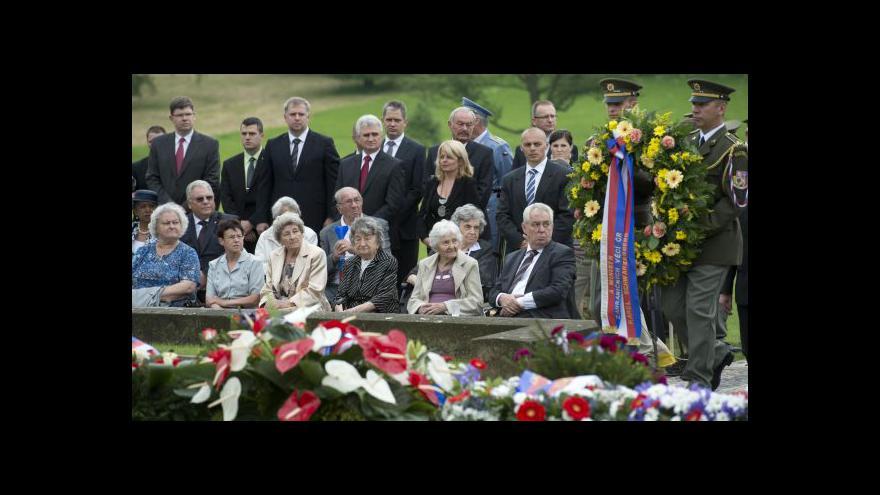 Video Pietní akce k 71. výročí vypálení obce Lidice