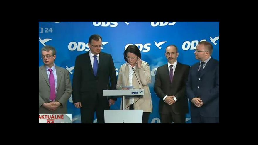 Video Tisková konference výkonné rady ODS
