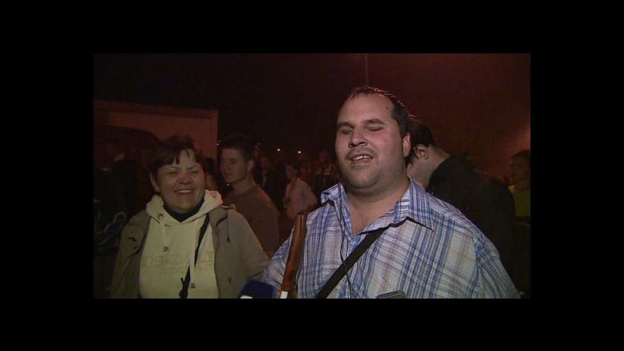 Video Martin Chrástecký popisuje dojmy z ohňostroje