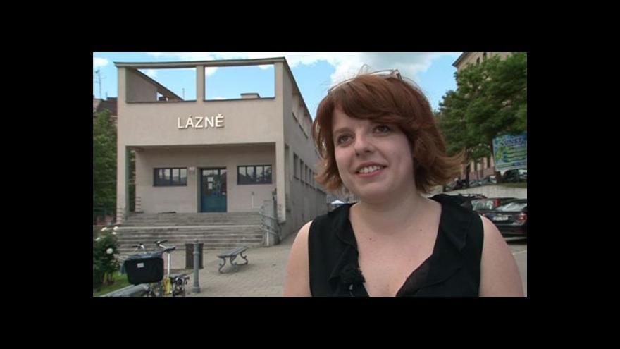 Video Lucie Valdhansová o městských lázních