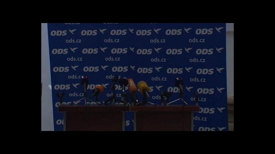 Video Brífink po jednání poslaneckého klubu ODS