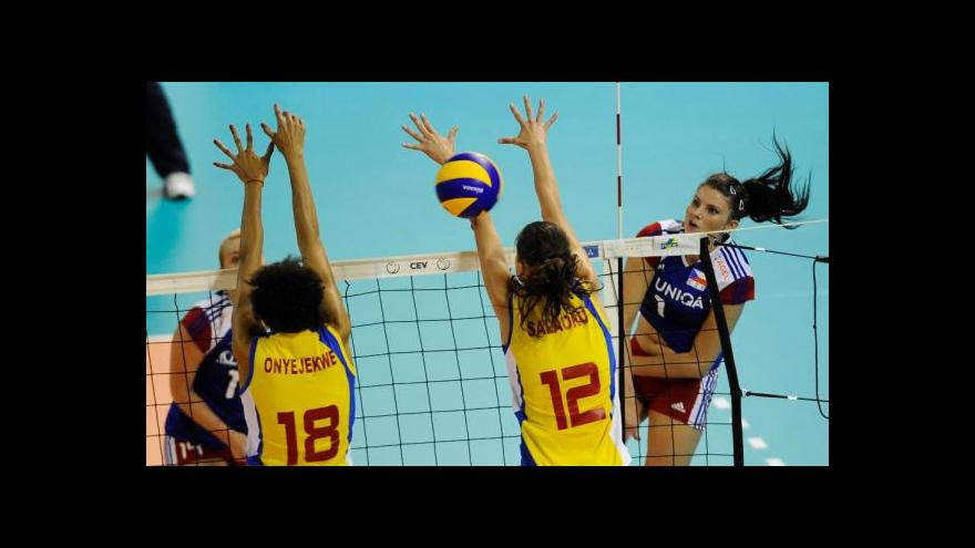 Video Sestřih volejbalu žen Česko - Rumunsko