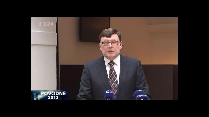 Video Brífink ministra dopravy k pomoci oblastem postiženým povodněmi