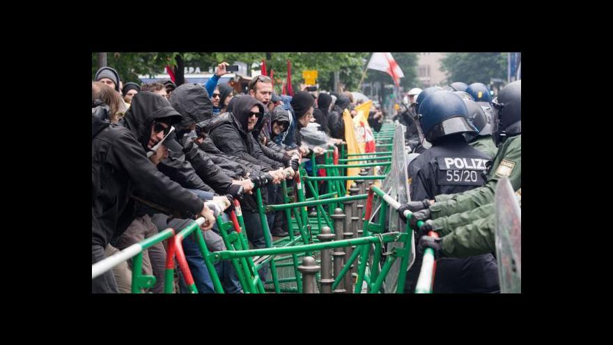 Video Hnutí Blockupy se snažilo zablokovat ECB