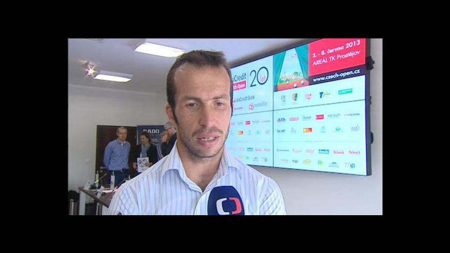 Video Na tenisovém challengru v Prostějově by se mohli objevit Rosol a Štěpánek