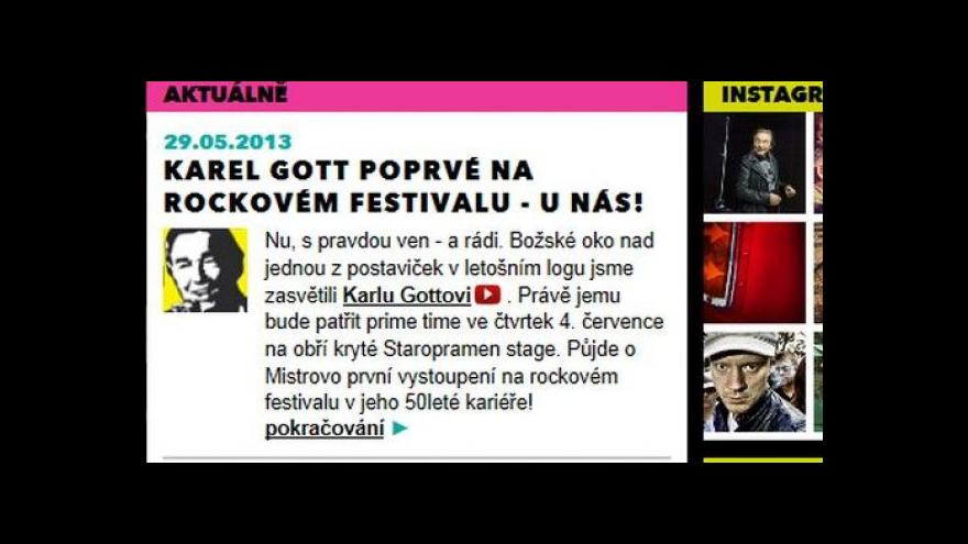 Video Karel Gott k vystoupení na Rock for People