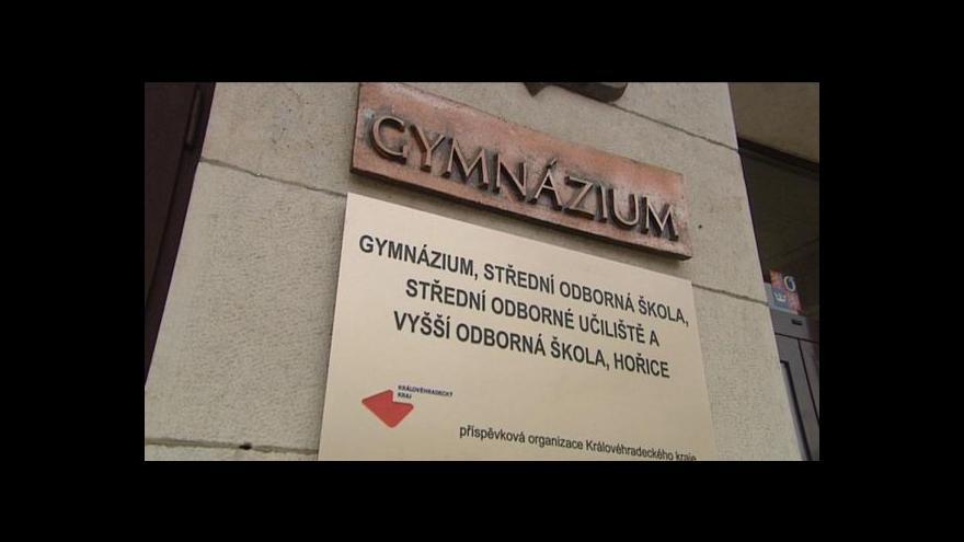 Video Přemysl Šrámek o novém hořickém gymnáziu