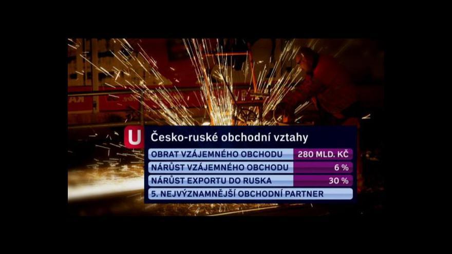 Video Návštěva premiéra Nečase v Rusku tématem Událostí