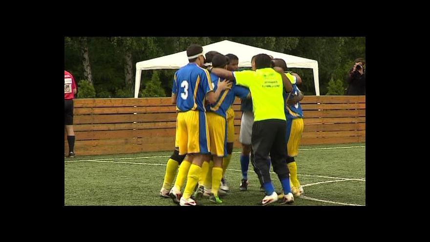 Video Futsal pro nevidomé