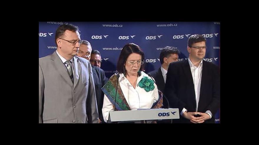 Video Brífink ODS po jednání výkonné rady
