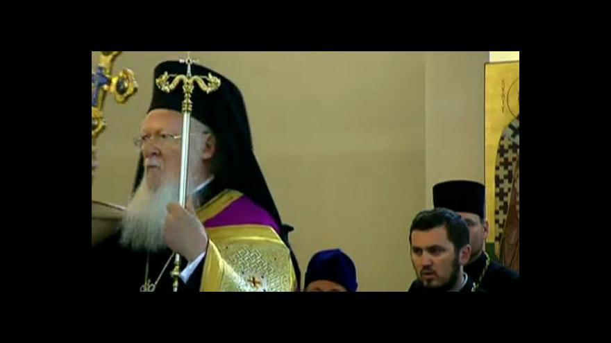 Video Pravoslavný patriarcha uctil v Praze památku Cyrila a Metoděje