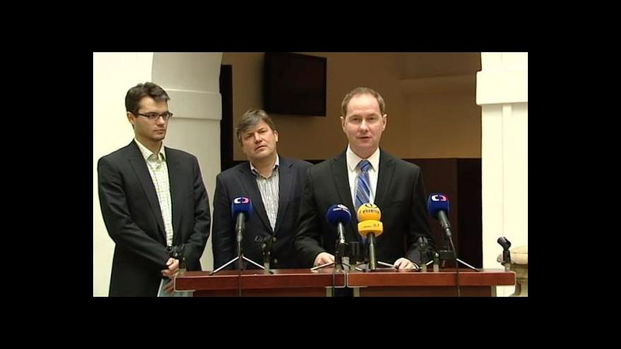 Video Brífink TOP 09 k přímé volbě starostů