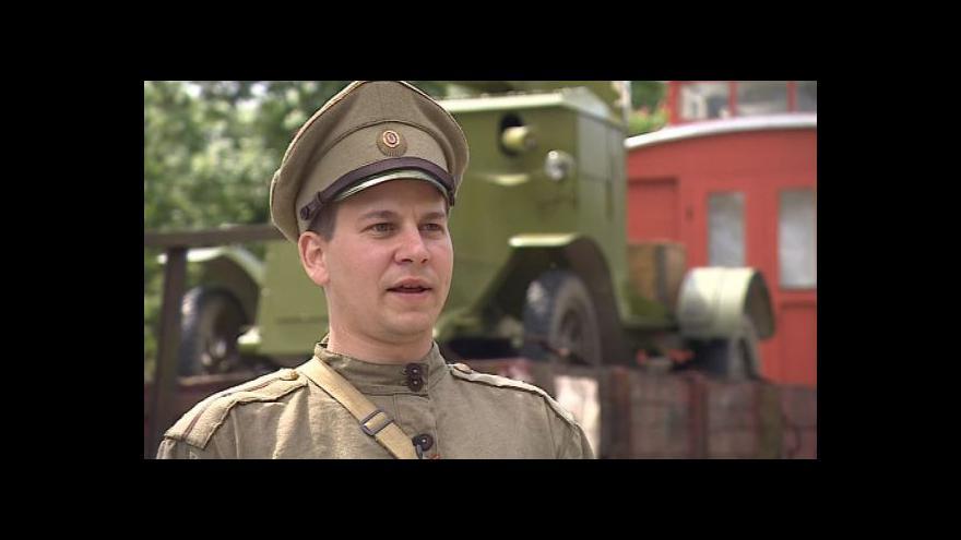 Video Jiří Charfreitag z klubu Československé legie o legiovlaku