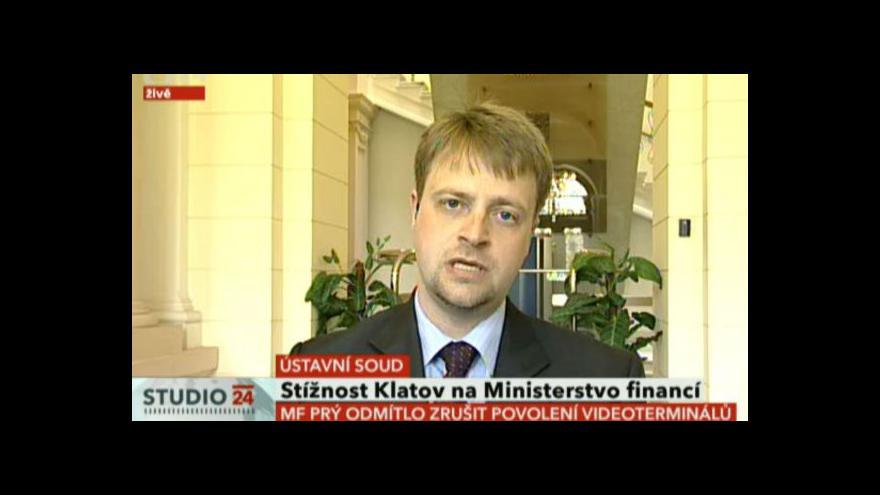 Video Generální sekretář ÚS Ivo Pospíšil hovoří o nálezu o hazardu