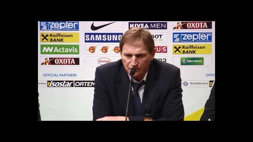 Video Reakce Aloise Hadamczika na tiskové konferenci po duelu se Švýcarskem
