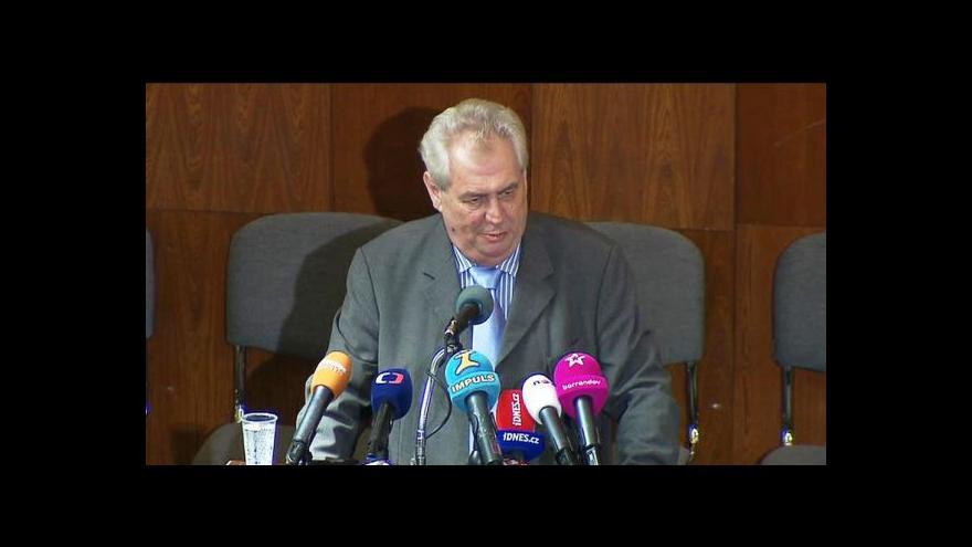 Video Zeman kritizoval důchodovou reformu
