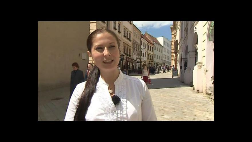 Video O záměru Znojma informuje mluvčí Zuzana Pastrňáková