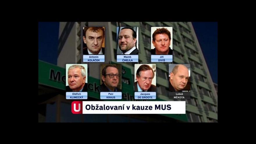 Video Události ČT o soudu s exmanažery MUS
