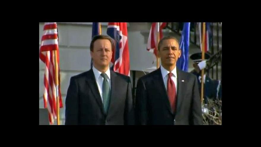 Video Asi vůči Sýrii přitvrdíme, připustil Cameron před schůzkou s Obamou