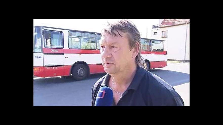 Video Incident popisuje řidič autobusu Miloslav Pantůček