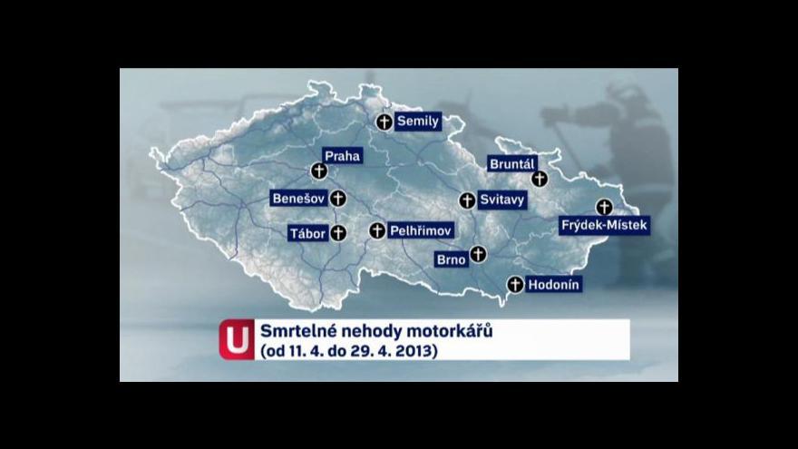Video V Česku příliš umírají motorkáři