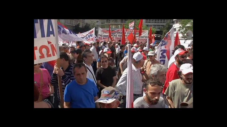 Video Stávky a demonstrace - řecký 1. máj