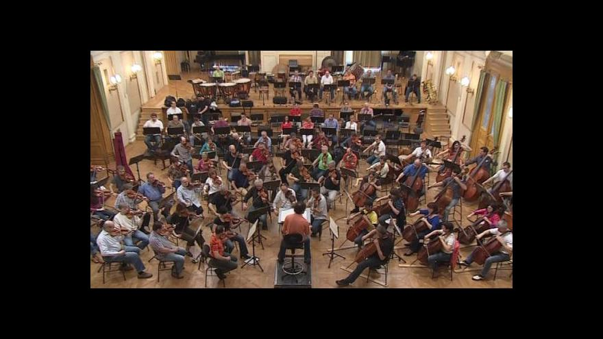 Video Zkouška Filharmonie Brno před odjezdem na turné do Mnichova