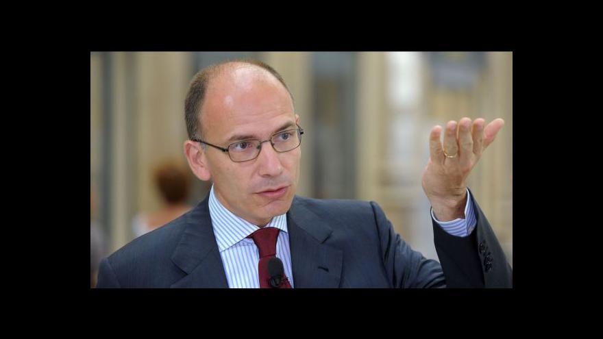 Video Italští senátoři vyslovili důvěru vládě Enrika Letty