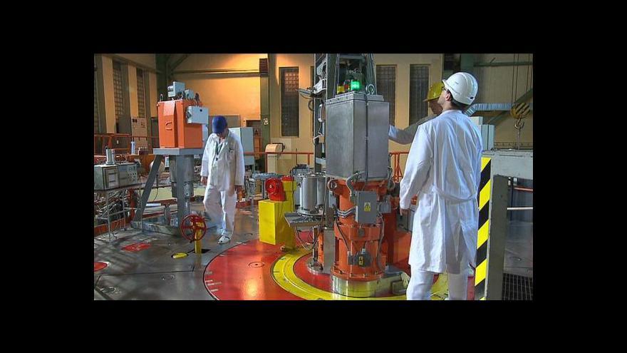 Video Výzkumný reaktor v Řeži má nové jaderné palivo