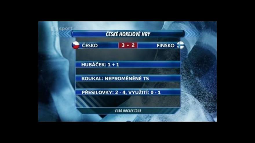 Video České hokejové hry: Sestřih a ohlasy utkání Česko - Finsko
