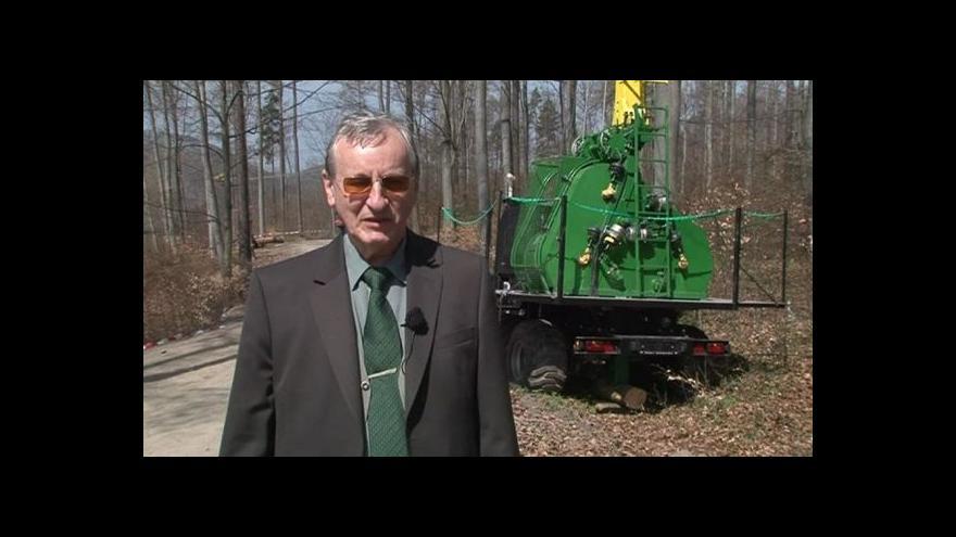 Video Fungování lanovky popisuje vedoucí výzkumu Lubomír Novák