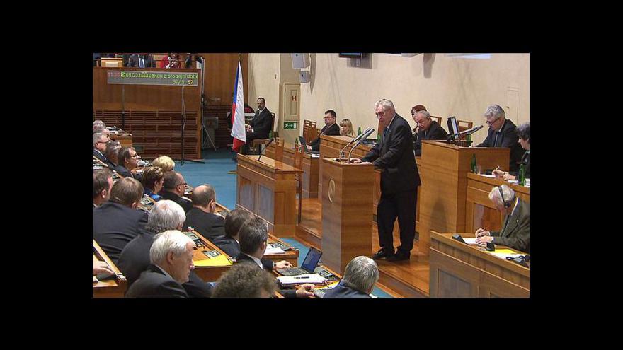 Video Projev Miloše Zemana v Senátu